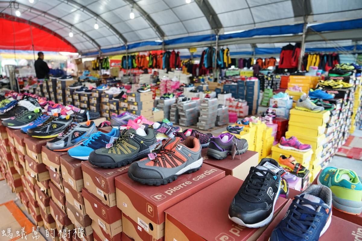 烏日鐵道市集夜市|運動鞋品牌超低價特賣會,NB、NIKE、adidas、Lotto、安全鞋全面下殺單一特價,眾多鞋款特賣。